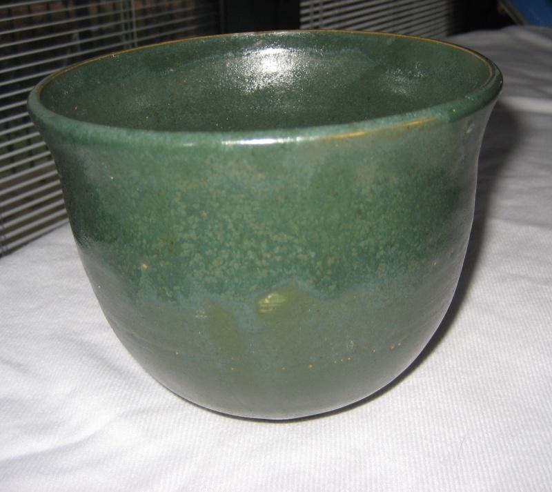 Green Glazed Pot With JC Mark- Hobby Potter? Img_2912