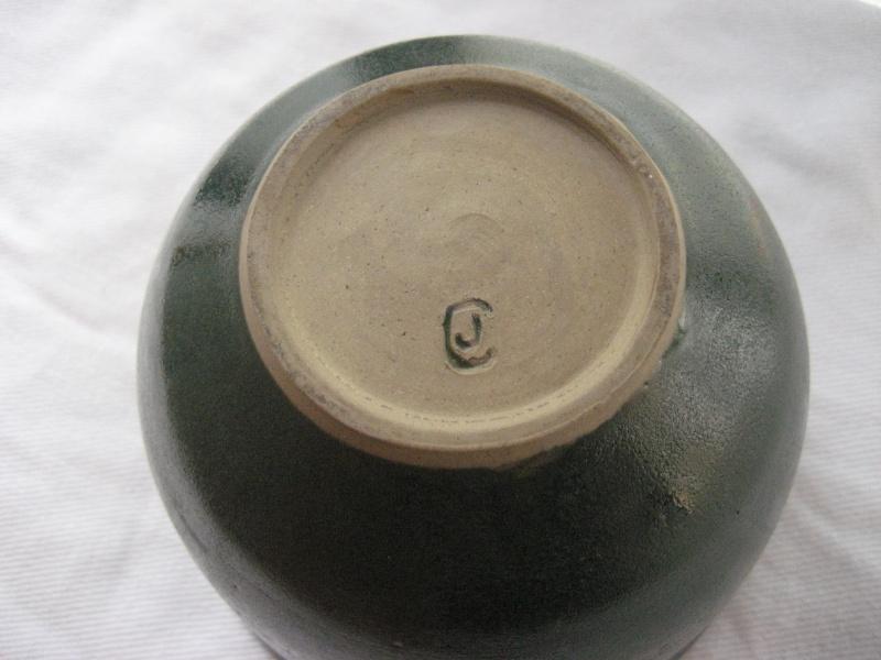Green Glazed Pot With JC Mark- Hobby Potter? Img_2913