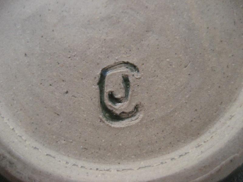 Green Glazed Pot With JC Mark- Hobby Potter? Img_2914