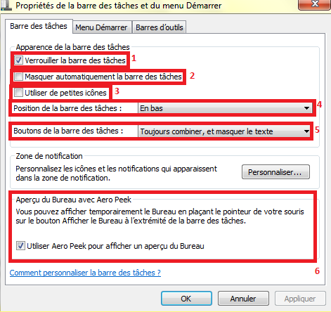 Les fonctions de la barre de tâches (Windows 7) Barre_10