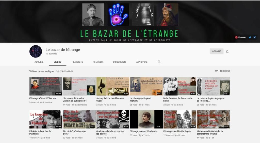 ★★★ Le Vidéaste à l'Honneur #49 | Bazar de l'étrange | Venez critiquer cette chaîne ! Bazar10