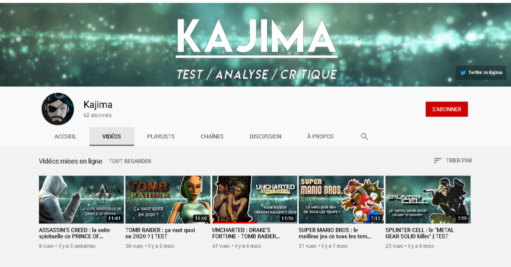 ★★★ Le Vidéaste à l'Honneur #54 | Kajima | Venez critiquer cette chaîne ! Kajima10
