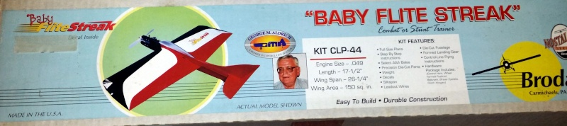 For Sale NIB Brodak Baby Flite Streak Control Line Kit Bfs10