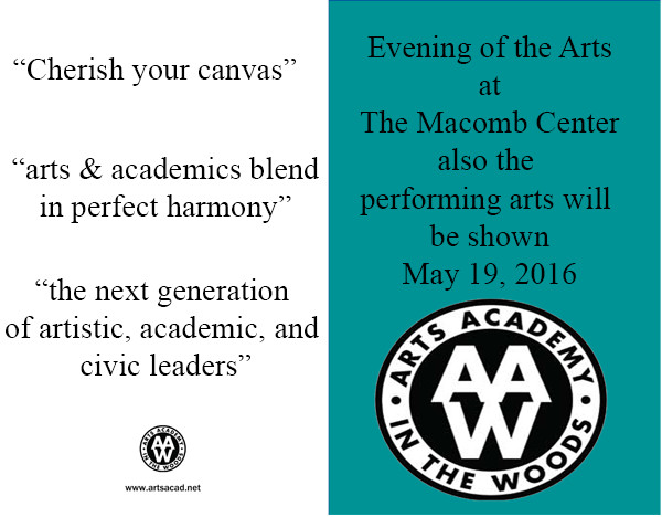 Assignment 8: (2nd, 5th and 6th hours): Evening of the Arts program cover due 3/23 Arts_a11