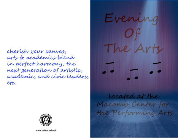 Assignment 8: (2nd, 5th and 6th hours): Evening of the Arts program cover due 3/23 Arts_a10