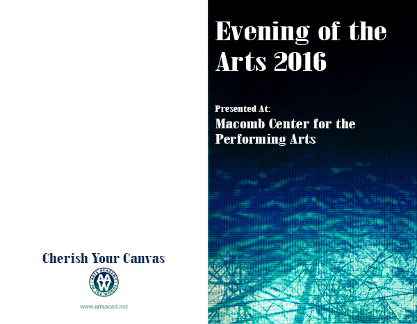 Assignment 8: (2nd, 5th and 6th hours): Evening of the Arts program cover due 3/23 Evenin10