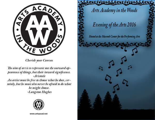 Assignment 8: (2nd, 5th and 6th hours): Evening of the Arts program cover due 3/23 Aaw_tr10