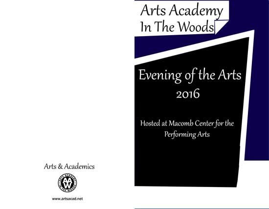 Assignment 8: (2nd, 5th and 6th hours): Evening of the Arts program cover due 3/23 Evenin12