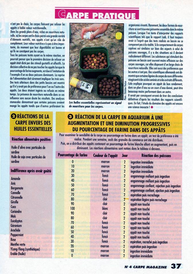les compotements alimentaires de la carpe 11061712