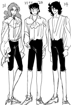 ages des personnages dans l'anime Yorozu13