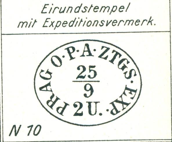 DIE ZEITUNGSMARKEN AUSGABE 1851 Zeitgs10