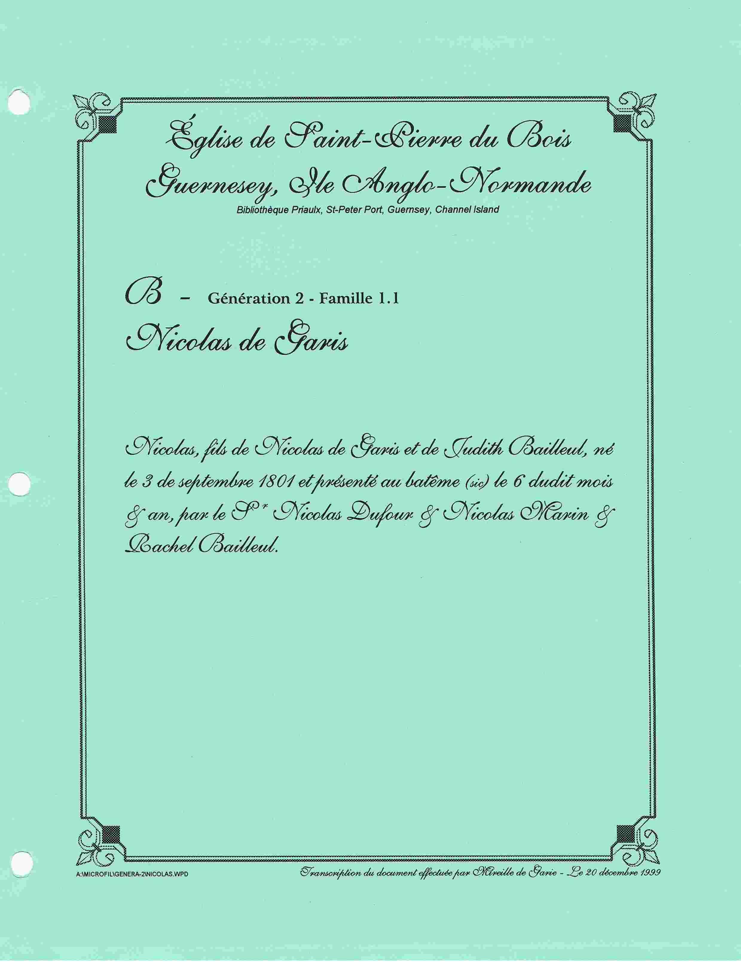 Dégari, De Garis, Nouvelle lignée Dégari - Page 2 Baptem10
