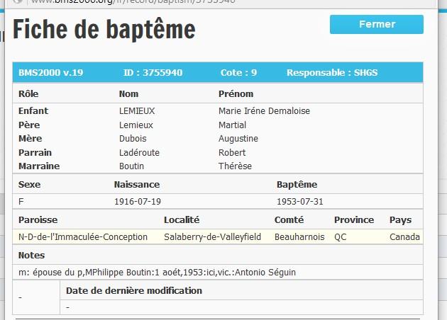Lemieux & Dubois Baptym14