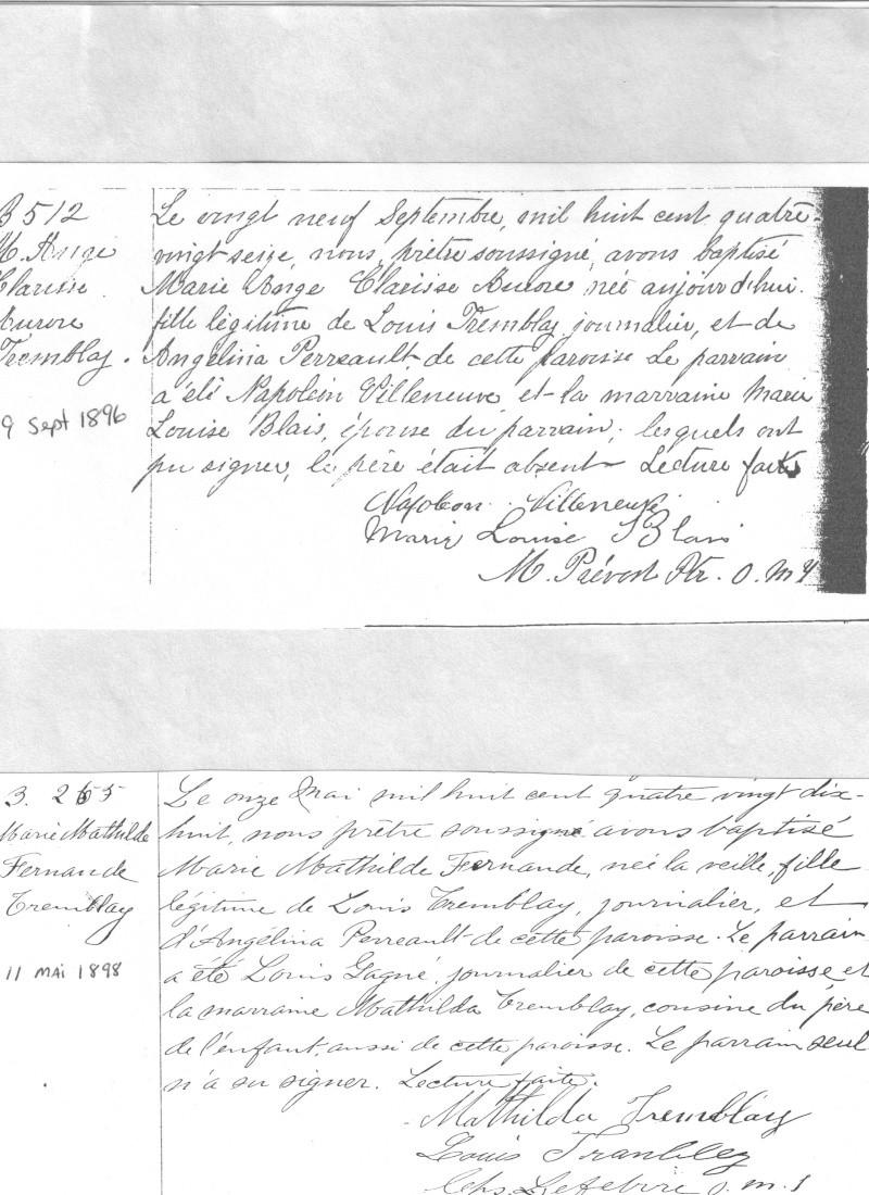 Louis Tremblay et Angélina Perreault - Page 4 Certif11