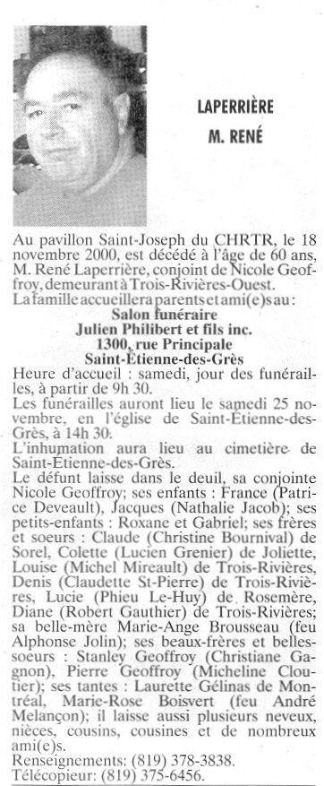 Laperrière-naissance décès Reny_l10