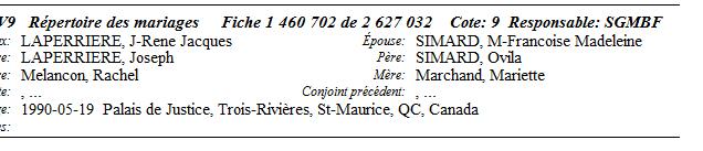 Laperrière-naissance décès Second10