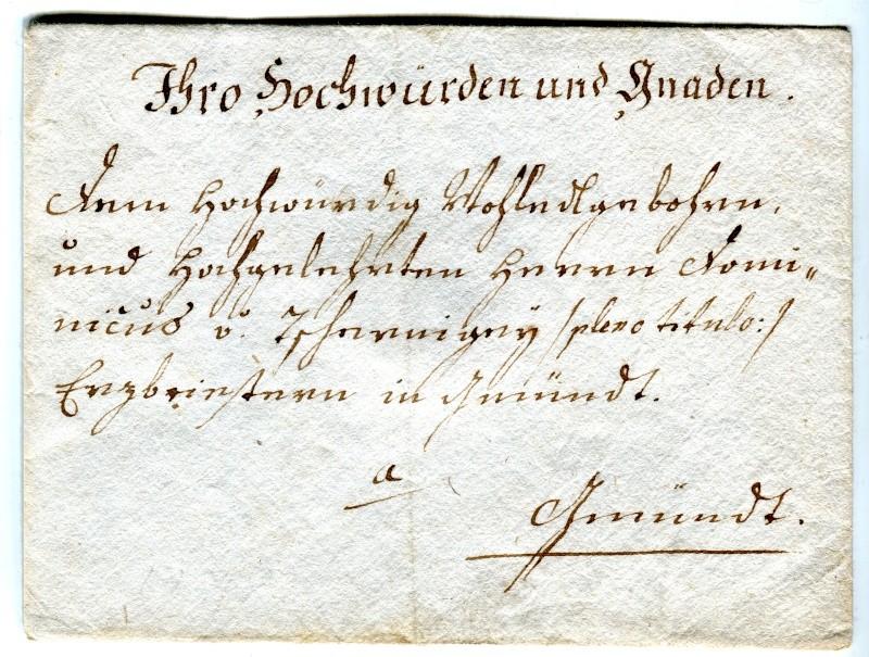 Vorphilatelie Österreich  -   Briefe aus der Vormarkenzeit - Seite 2 1778_110