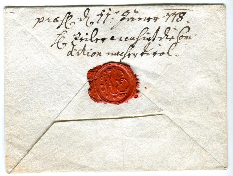 Vorphilatelie Österreich  -   Briefe aus der Vormarkenzeit - Seite 2 1778_210