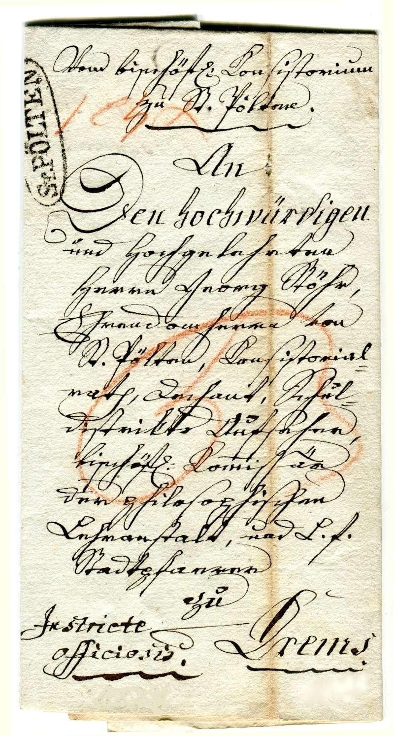 Vorphilatelie Österreich  -   Briefe aus der Vormarkenzeit - Seite 2 Bischo10