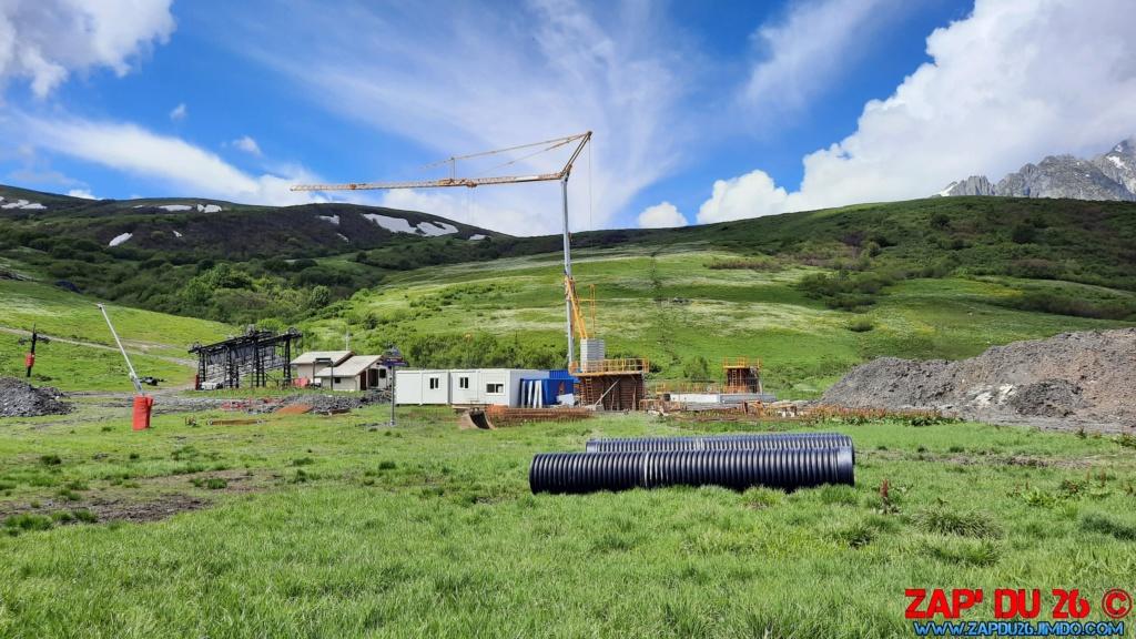 Construction des TSD6 du Mottet et de Biollène - Valmorel 20200625