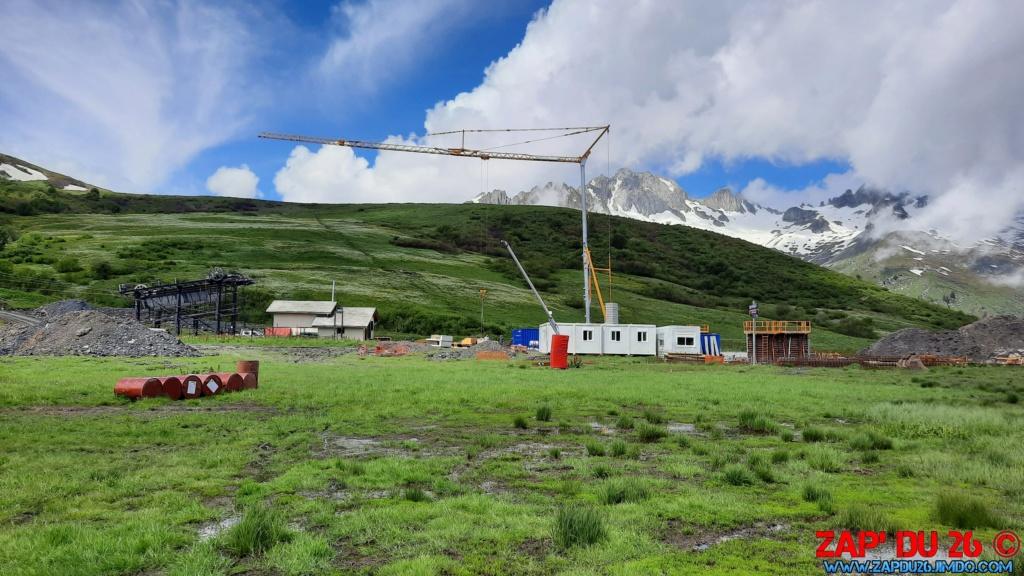 Construction des TSD6 du Mottet et de Biollène - Valmorel 20200627