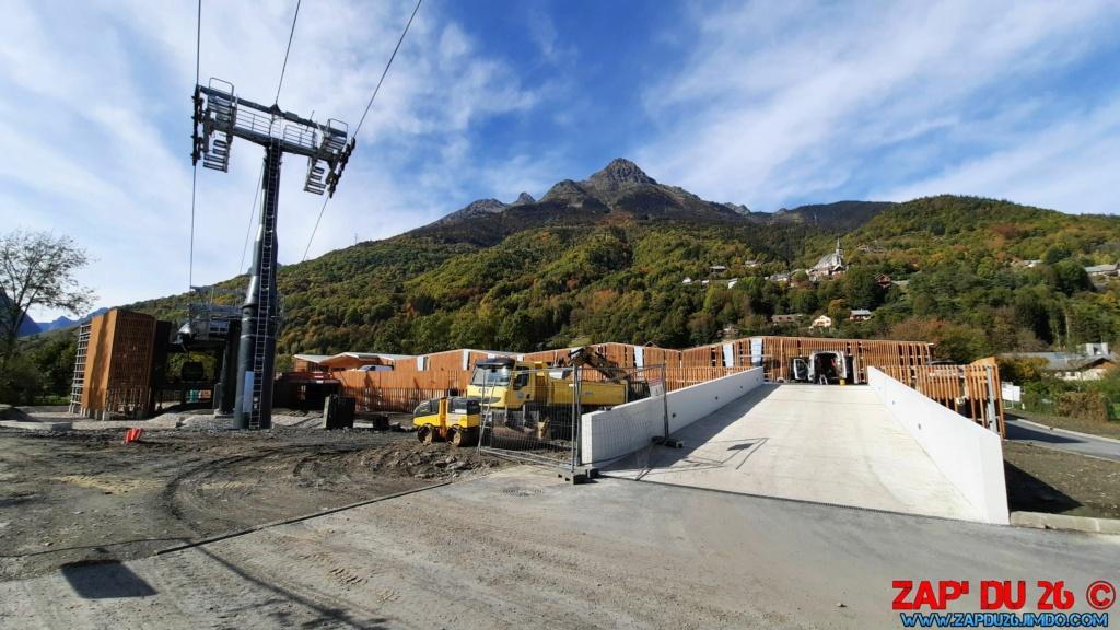 Construction télécabine débrayable (TCD10) Eau d'Olle Express - Oz 20201017