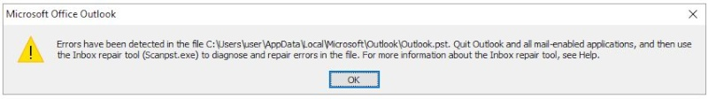 Microsoft Outlook asking me to use Inbox Repair Tool Captur10