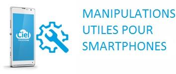 Smartphones : manipulations