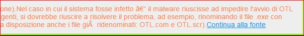 Nei messaggi non si vedono i link Antepr10