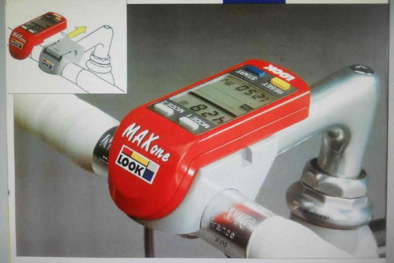 LOOK  Max One 1990 ; capteur de puissance dans le moyeu arrière et compteur intégré à la potence ! Dscn7437