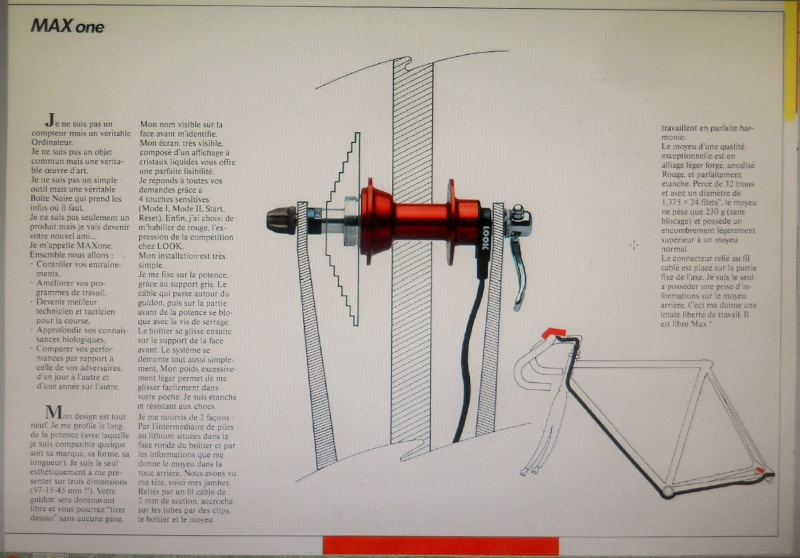 LOOK  Max One 1990 ; capteur de puissance dans le moyeu arrière et compteur intégré à la potence ! Dscn7438