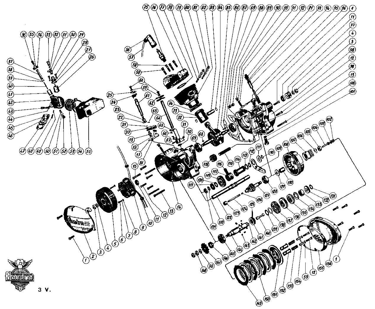 Embrayage usé sur Flandria 3 vitesse 3v11