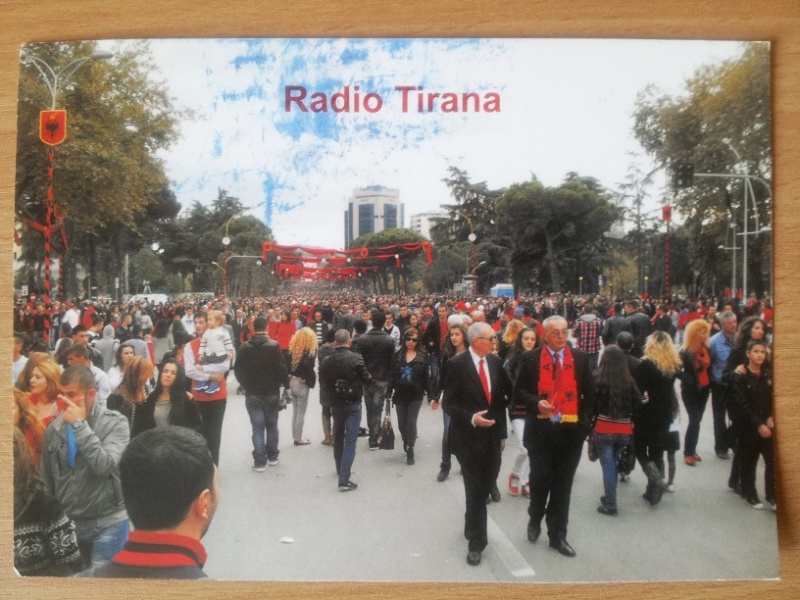 QSL de radio Tirana Tirana10