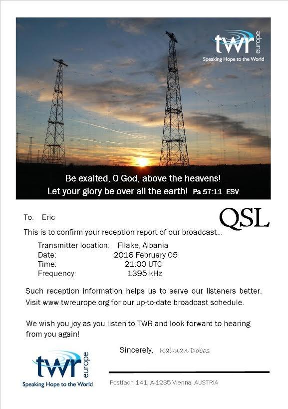 eQSL de TWR Europe Twr_mw10