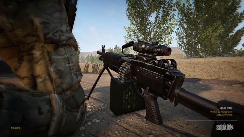 Zoom sur l'arsenal M249-310