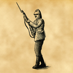 Pions soldats anglais fin XIXème siècle pour projet en cours d'édition 44168410