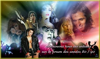 Bannières et photos sur les  chanteurs et chanteuses des années 80 (Créa Pat ) Photo_10