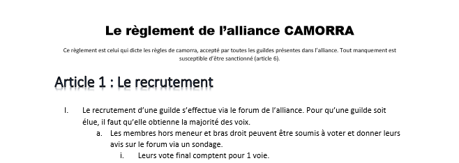 règlement de l'alliance [CAM] Extrai10