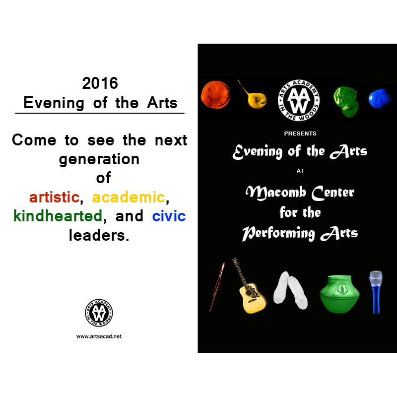 Assignment 8: (2nd, 5th and 6th hours): Evening of the Arts program cover due 3/23 Templa10