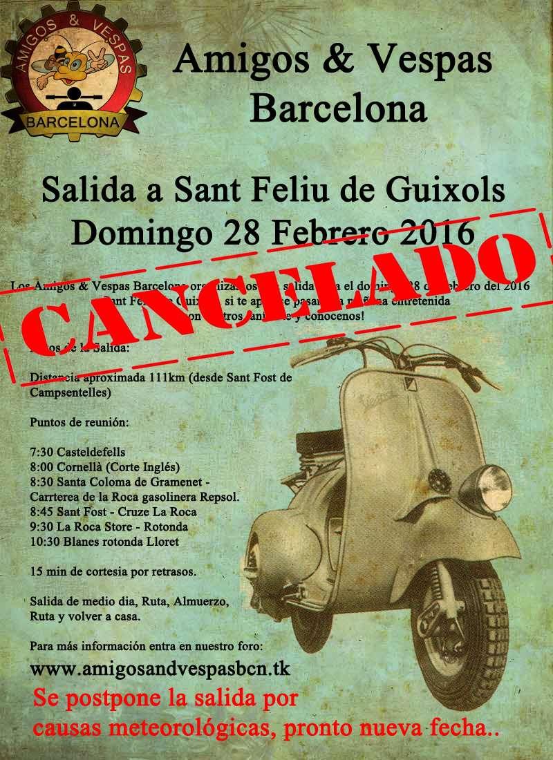 SALIDA  SANT FELIU DE GUIXOLS 28 FEBRERO 2016 (CANCELADA) Cartel11