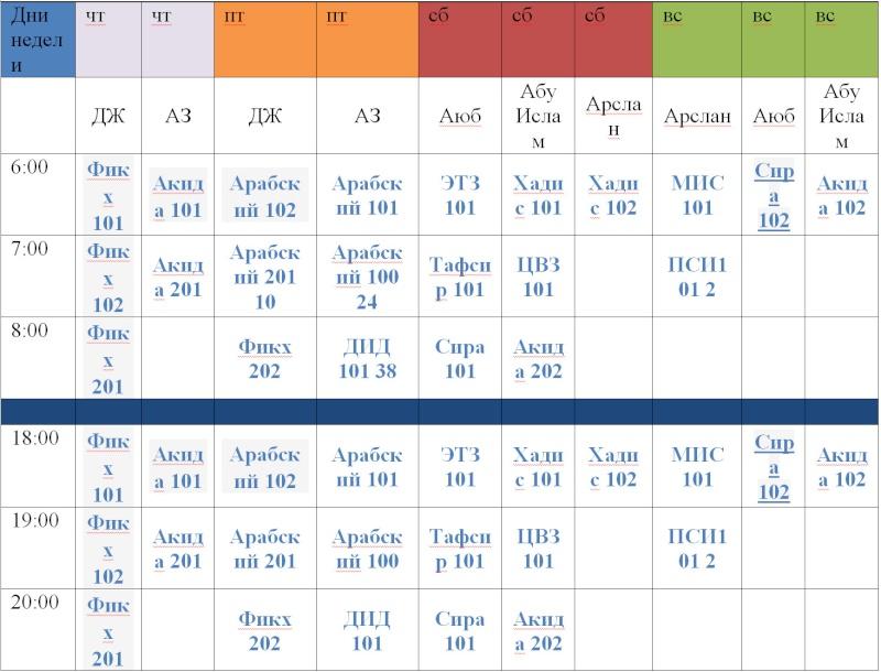 Расписание на весенний семестр 2016 года Shed15