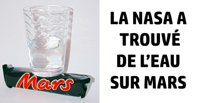 """Nous Voila rassuré """" La NASA """" a trouvé de l'eau sur Mars Eau-ma10"""