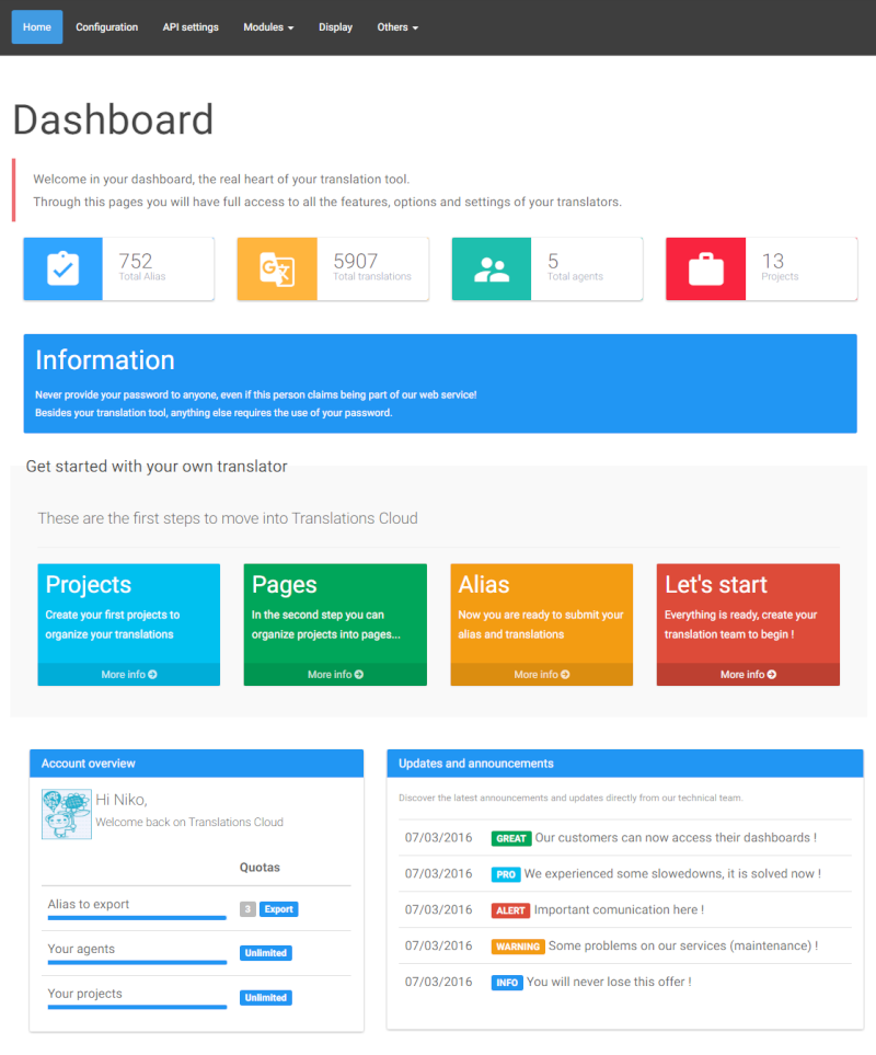 New dashboard for our service Dashbo10