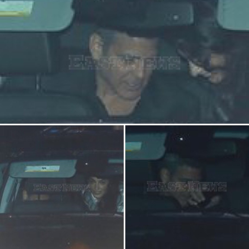Party of three: George Clooney enjoys a relaxed evening out in Malibu with Cindy Crawford and her husband Rande Gerber 06. March 2016 Image11