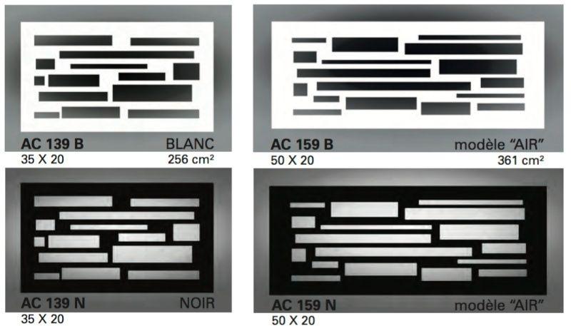 Accessoires de personnalisation de votre installation Cheminée ou Poêle. Grille11