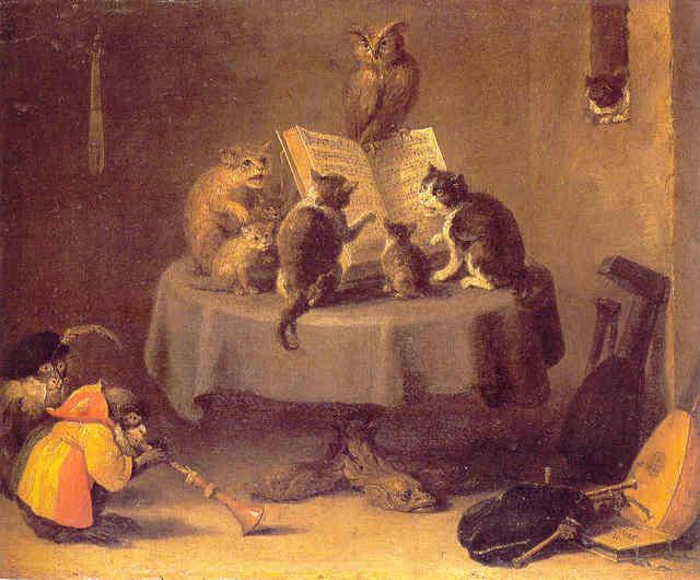 a voir   chats en  peinture M54td010