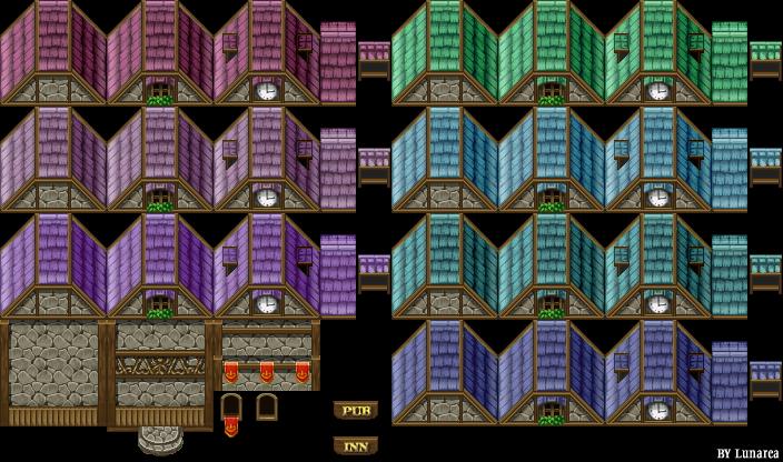Tileset (toits et murs) retouché Tilee216