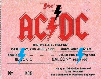 1991 / 04 / 27 - IRL, Belfast, King's Hall 119
