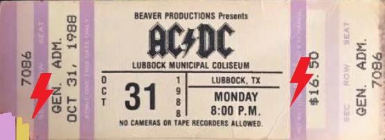 1988 / 10 / 31 - USA, Lubbock, Municipal coliseum 12743710