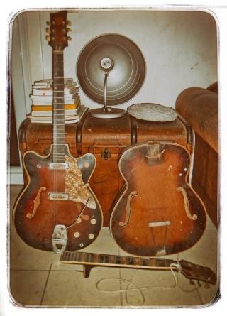 Bo Diddley's first guitar replica 12107211